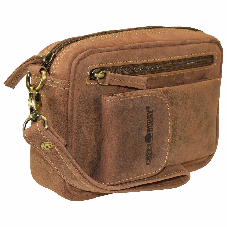 Vintage Herrentasche Leder 22 cm